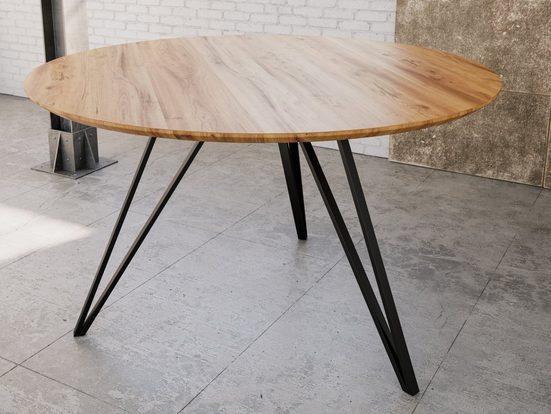 Junado® Esstisch »Insa«, runder Esszimmertisch Insa 110 cm mit 26mm Tischplatte