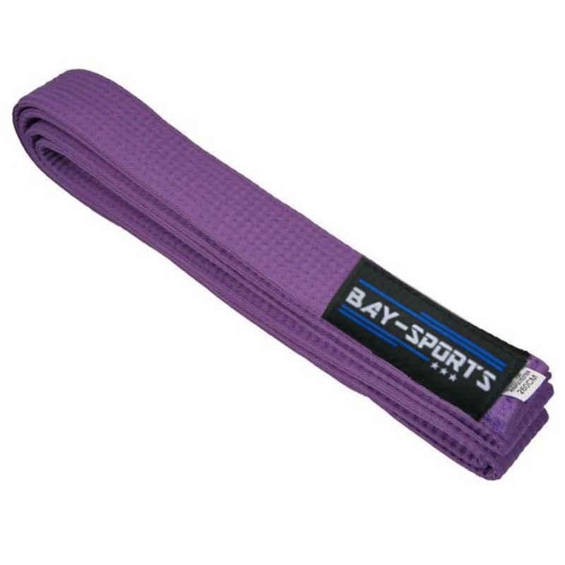 BAY-Sports Karateanzug »Budogürtel Karategürtel Kampfsportgürtel violett«, Judogürtel, Taekwondogürtel, Länge 160 cm - 350 cm