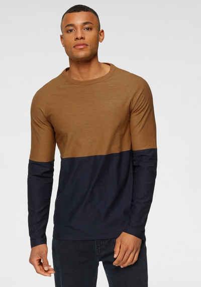 TOM TAILOR Denim Langarmshirt im Color-Blocking