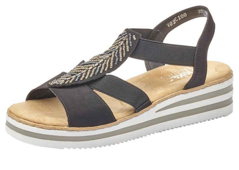 Rieker Sandalette mit Zierperlen-Verzierung