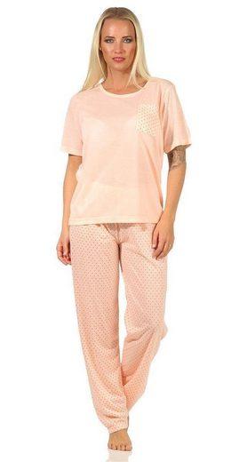 EloModa Pyjama »Damen Pyjama Hose + Shirt Schlafanzug Pyjama-Set;« (2 tlg)