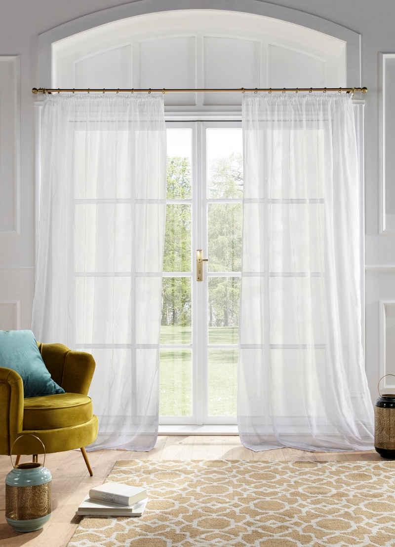 Gardine »Mila«, Guido Maria Kretschmer Home&Living, Kräuselband (1 Stück), transparent, Wellenmuster, Voile, monochrom democratichome Edition