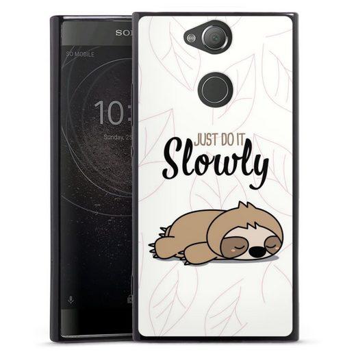 DeinDesign Handyhülle »Just do it slowly Sloth« Sony Xperia XA 2, Hülle Tiere Faultier lazy sunday
