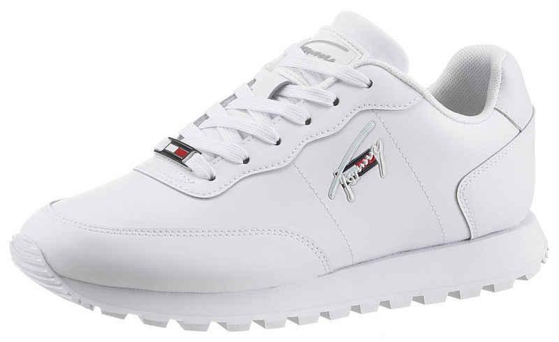 Tommy Jeans »TOMMY JEANS LEATHER RUNNER« Keilsneaker mit seitlicher Logostickerei