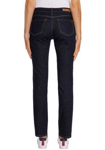 TOMMY HILFIGER Straight-Jeans »HERITAGE ROME STRAIGHT RW« mit markanten Kontrastnähten
