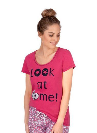 Trigema T-Shirt mit weitem Ausschnitt und Motiv