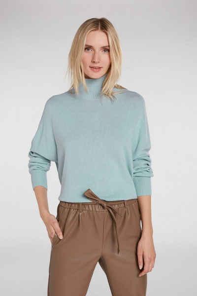 Oui Strickpullover »Pullover mit Stehkragen«