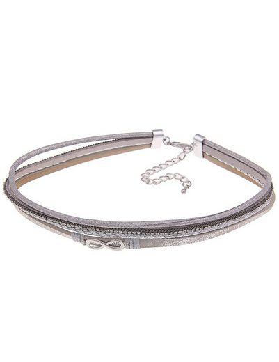 leslii Halskette im Leder Design