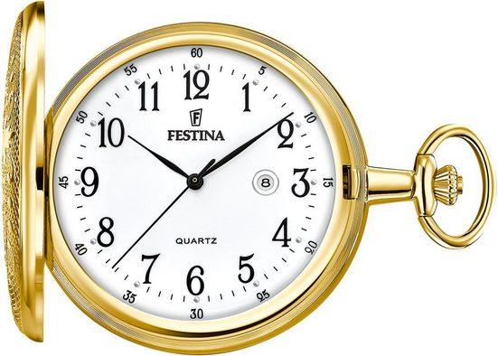 Festina Taschenuhr »F2028/1«, (Set, 2-tlg., mit Kette)