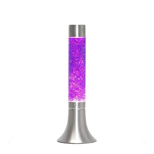 Licht-Erlebnisse Lavalampe »YVONNE Lavalampe Lila retro Stimmungslicht 38cm hoch Lampe«