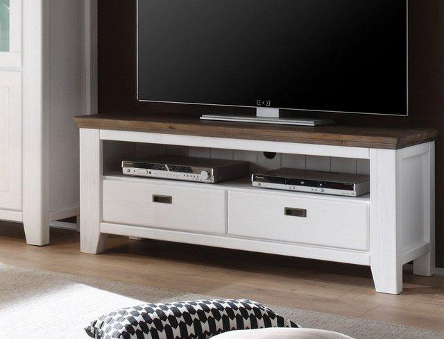 TV Möbel - expendio TV Board »Barnelund«, Landhausstil 140x55x45 cm Massivholzmöbel komplett zusammengebaut  - Onlineshop OTTO