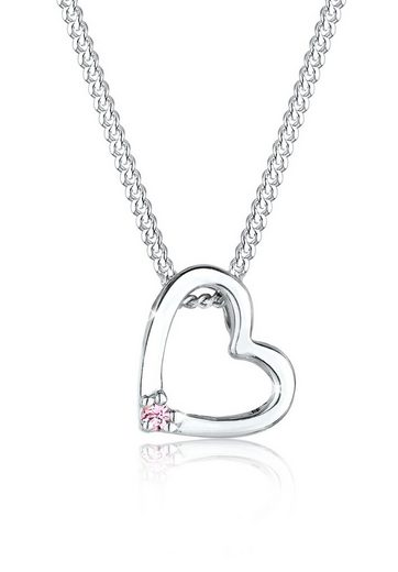 Elli Kette mit Anhänger »Herz Anhänger Swarovski® Kristall 925 Silber«, Herz