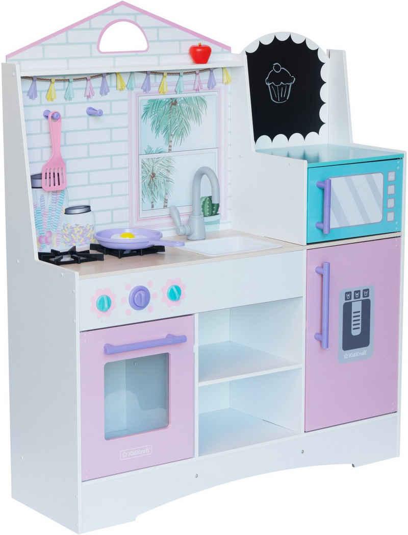 KidKraft® Spielküche »Dreamy Delights« MDF, Holz, Kunststoff, mit Kreidetafel