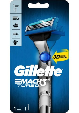 Gillette Nassrasierer »Mach3 Turbo« 2-tlg. Rasi...