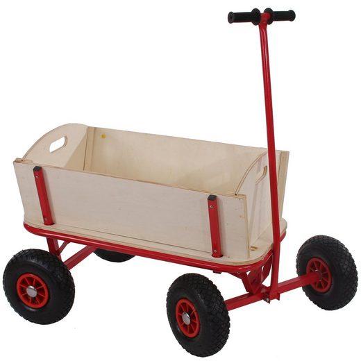 MCW Bollerwagen »Paris-1«, Stahlrohrgestell, Wahlweise mit Dach, Sitz und Bremse erhältlich