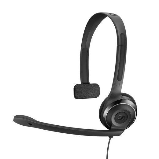 Sennheiser »PC 7 USB Headset« PC-Headset (Ein-Ohr-Kopfhörer, Mikrofon am Kopfband, Noise Cancelling-Mikrofon, Schwarz)
