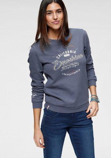 KangaROOS Sweatshirt mit sportiven Drucken vorne und hinten