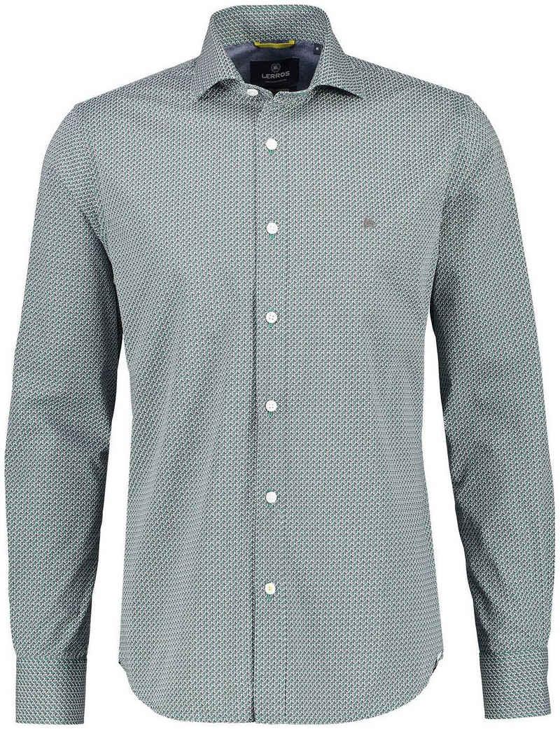 LERROS Langarmhemd mit Logostickerei