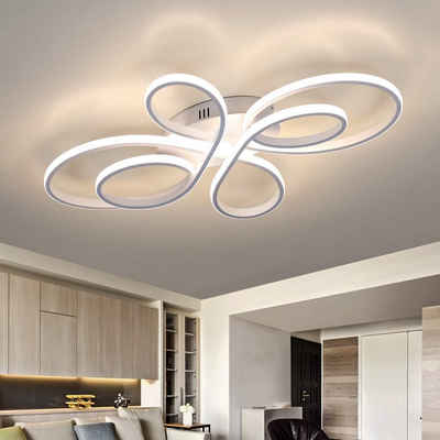 ZMH LED Deckenleuchte »LED Deckenleuchte Wohnzimmer Moderne LED Deckenlampe Dimmbar mit Fernbedienung 65 Watt aus Metall in Schmetterlingforming Design für Schlafzimmer«
