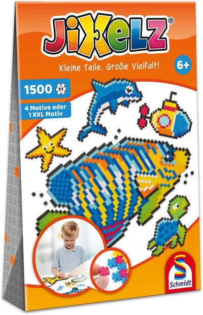 Schmidt Spiele Konturenpuzzle »Jixelz®, Unterwasserwelt«, 1500 Puzzleteile