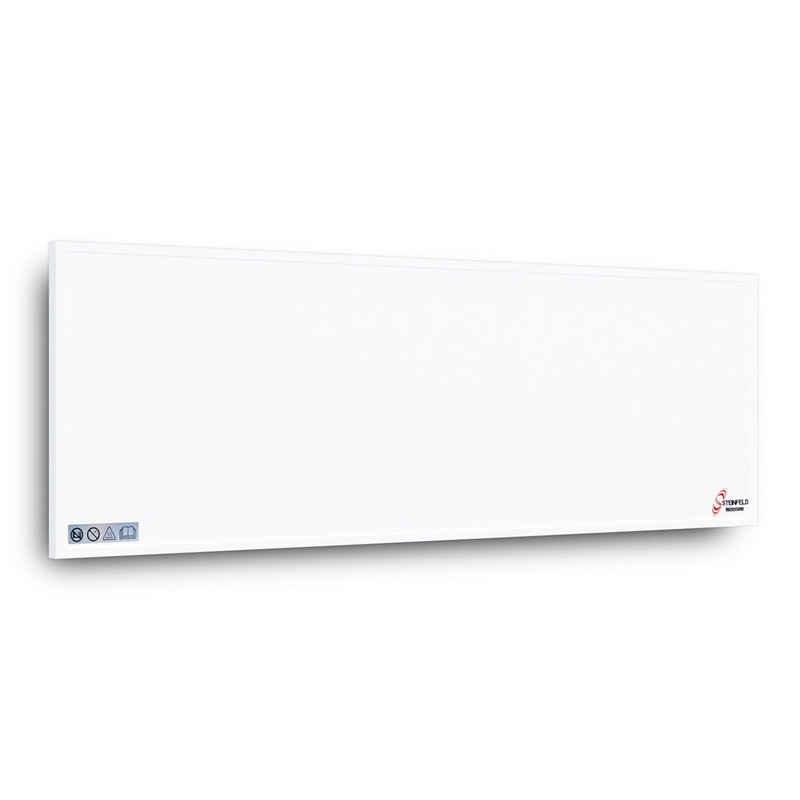 STEINFELD Heizsysteme Infrarotheizung, Alu Weiß, 550-1100Watt, Inklusive Thermostat