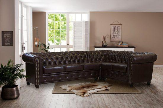 Premium collection by Home affaire Ecksofa »Rysum«, Chesterfield-Optik, langer Schenkel links oder rechts