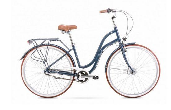 breluxx Cityrad »28 Zoll ALU Damenfahrrad Pop Art, Rücktrittbremse, Nexus Nabenschaltung, graphite«, 3 Gang Shimano Nexus Schaltwerk, Nabenschaltung