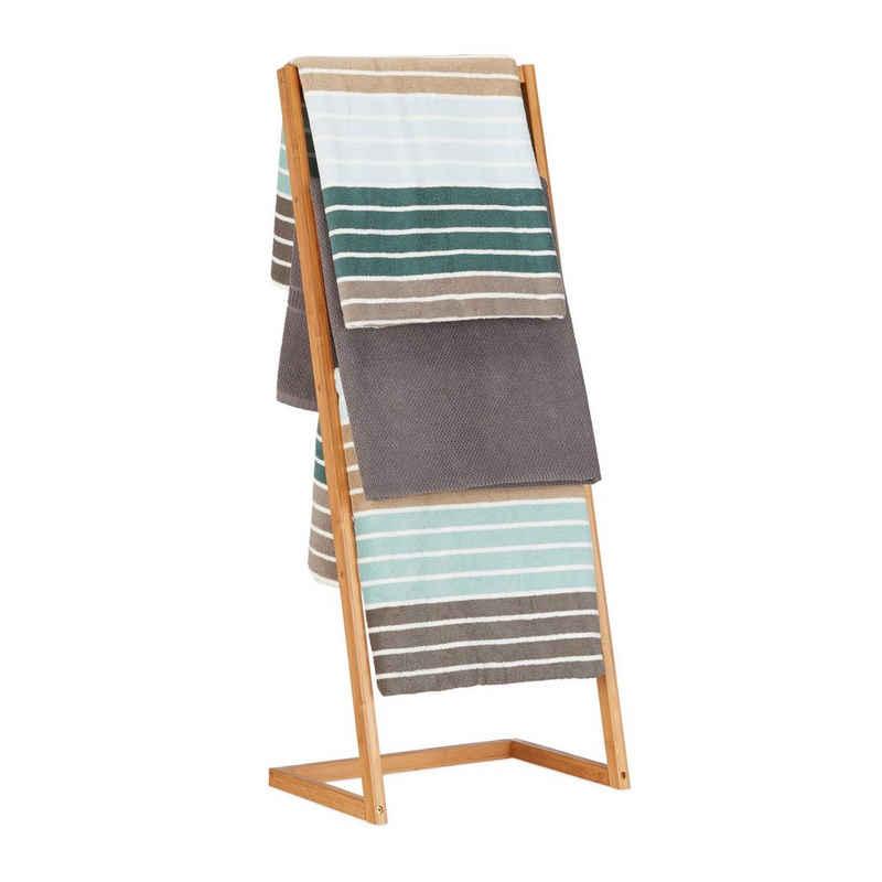 relaxdays Handtuchständer »Handtuchhalter Bambus freistehend«