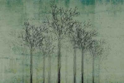 Architects Paper Fototapete »Atelier 47 Trees Artwork 2«, glatt, Wald, (4 St)