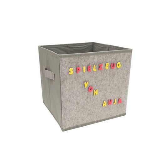 HTI-Line Aufbewahrungsbox »Aufbewahrungsbox mit Buchstaben Paloma« (1 Stück), Stoffbox