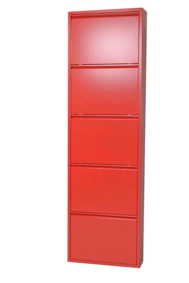 moebel-direkt-online Schuhschrank »Heidi« (1-St) aus Metall, nur 15 cm tief, ideal für schmale Räume