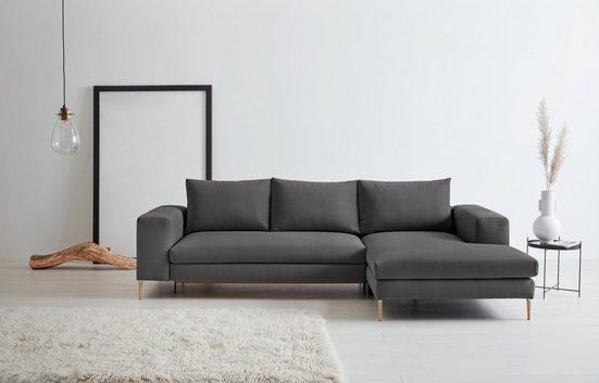 OTTO products Polsterecke »Finnja«, mit Recycling-Bezug, wahlweise mit Bettfunktion und Stauraum (Maße: 297cm x 83cm x 170 cm) oder ohne Bettfunktion (Maße: 277cm x 83 cm x 170 cm)