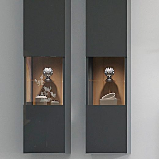 Places of Style Glasvitrine »Onyx« hochwertig UV lackiert, mit Soft-Close-Funktion
