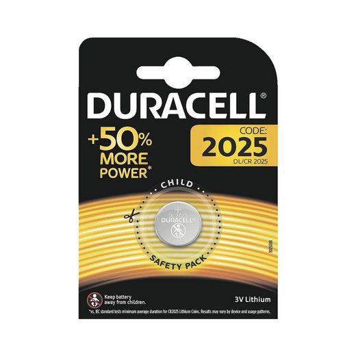 Duracell Knopfzelle, (1 St), CR 2025, lange Lebensdauer