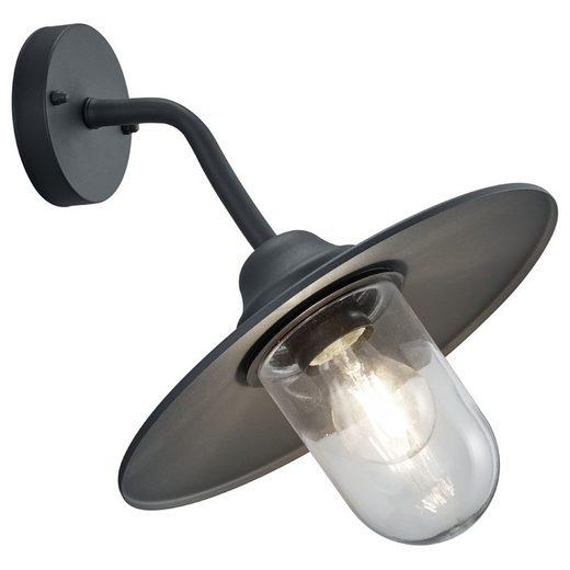 click-licht Deckenleuchte »Wandleuchte Brenta in Anthrazit und Transparent«, Aussenlampe, Aussenwandleuchte, Outdoor-Leuchte