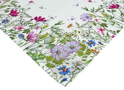 """NEO-24 Tischdecke »Tisch-Mitteldecke """"Blumen"""" 85 x 85 cm pflegeleicht« (1-tlg), robuste Leinwandqualität"""
