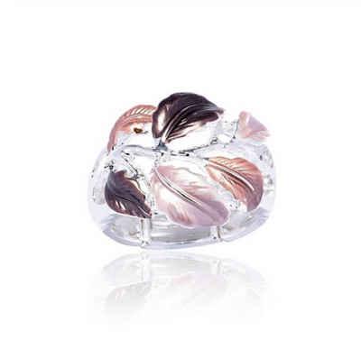 Mein Style Fingerring »elastischer Ring Blätter braun RM 007«, elastischer Ring