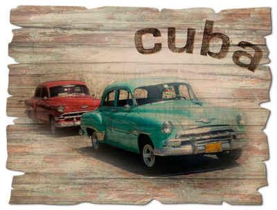 Artland Holzbild »Kuba - Das Taxi«, Auto (1 Stück)