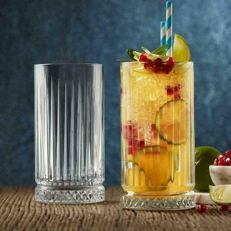 Pasabahce Longdrinkglas »Elysia Longdrink Glas im Retro-Design und Kristall-Look 280ml 4-Stück 520125«