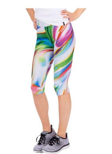 Trigema Elastische Sport-Hose mit buntem Muster