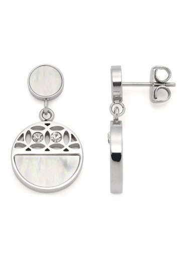 LEONARDO Paar Ohrstecker »Larina, 019567«, mit Kristallglas - mit Perlmutt