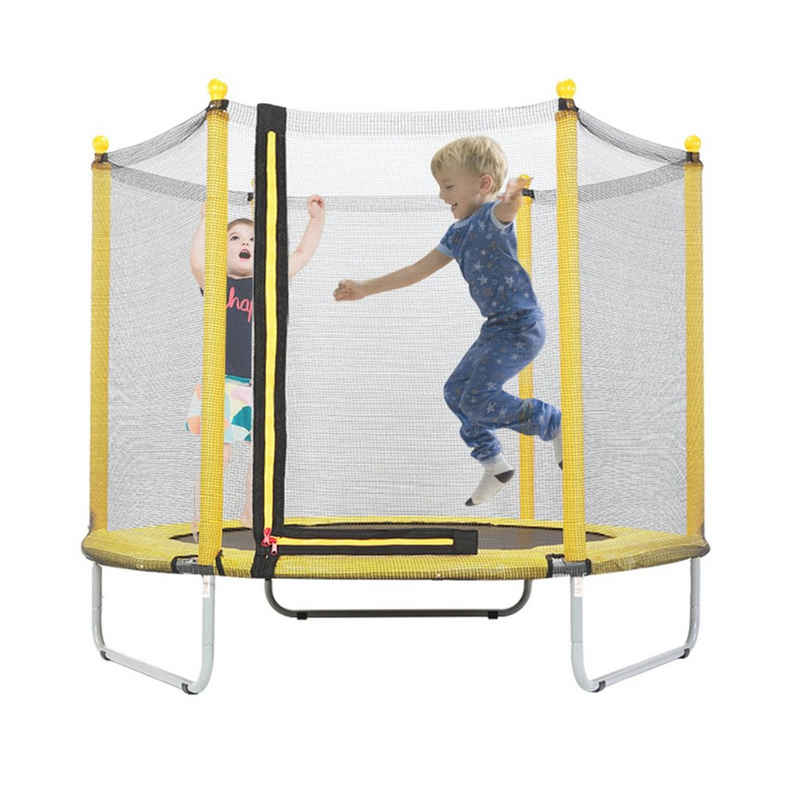 FCH Gartentrampolin »Kindertrampolin mit Sicherheitsnetz«, 150 cm Indoor Outdoor Kinder Trampolin Fitness Sport Jumper
