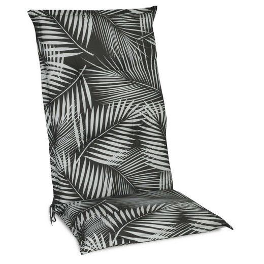 Beautissu Polsterauflage »Tropic«, Hochlehner Auflage 120x50x6cm