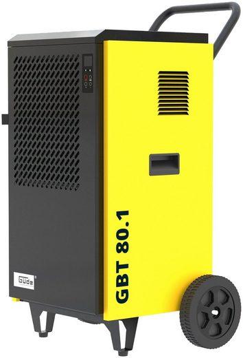 Güde Bautrockner Bautrockner GBT 80.1, für 160 m³ Räume, Entfeuchtung 80 l/Tag, inkl. Abflussschlauch für den Permanentbetrieb