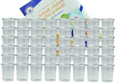 MamboCat Vorratsglas »48er Set Weck Gläser 160 ml Sturzgläser incl. Diamant-Zucker Gelierzauber Rezeptheft«