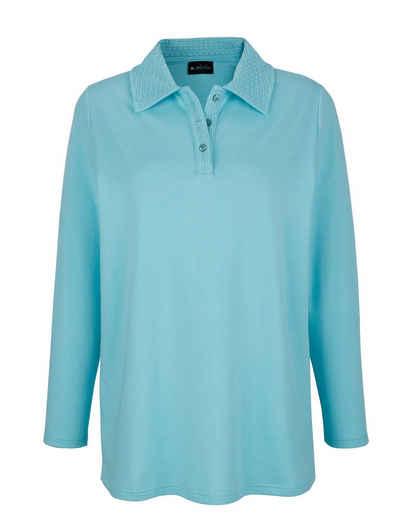 m. collection Sweatshirt mit dekorativem Polokragen