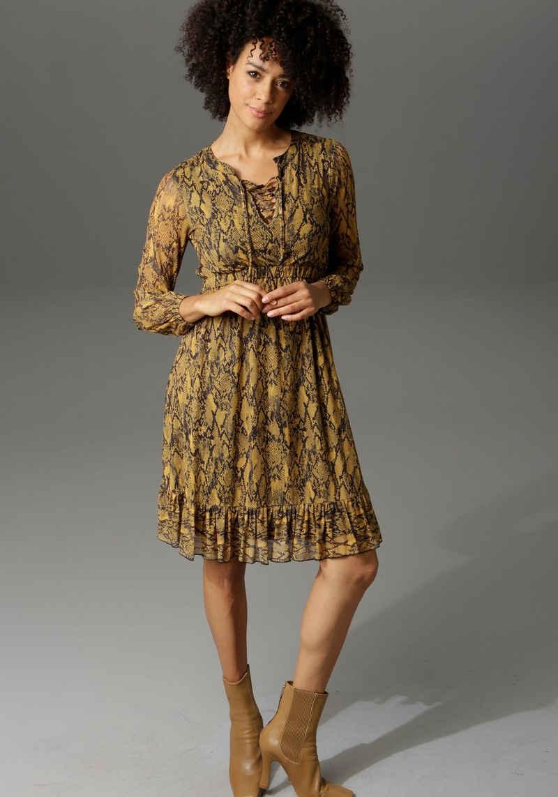 Aniston CASUAL Partykleid in Schlangenoptik oder grafischem Alloverdruck