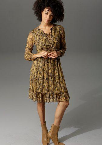 Aniston CASUAL Partykleid in Schlangenoptik arba graf...