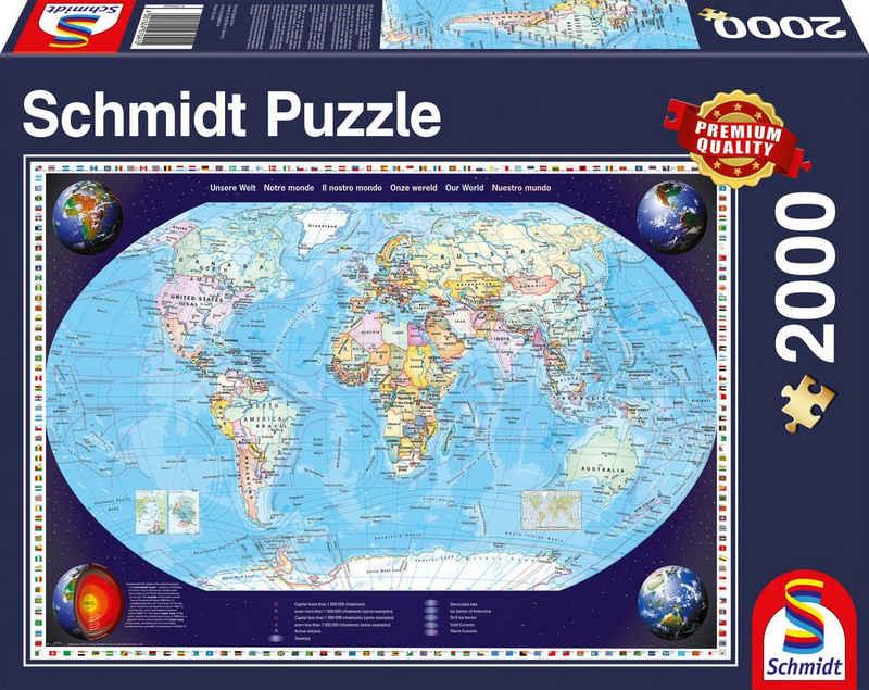 Schmidt Spiele Puzzle »Unsere Welt«, 2000 Puzzleteile
