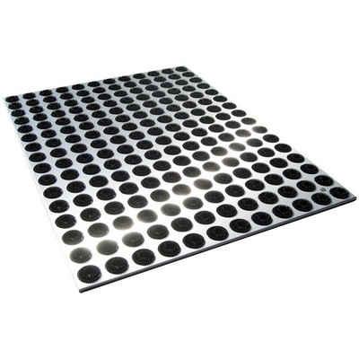 Fußmatte »Radius Fußmatte Edelstahl Feet Back groß 78 x 58 cm - 513 a«, Radius, Höhe 0 mm